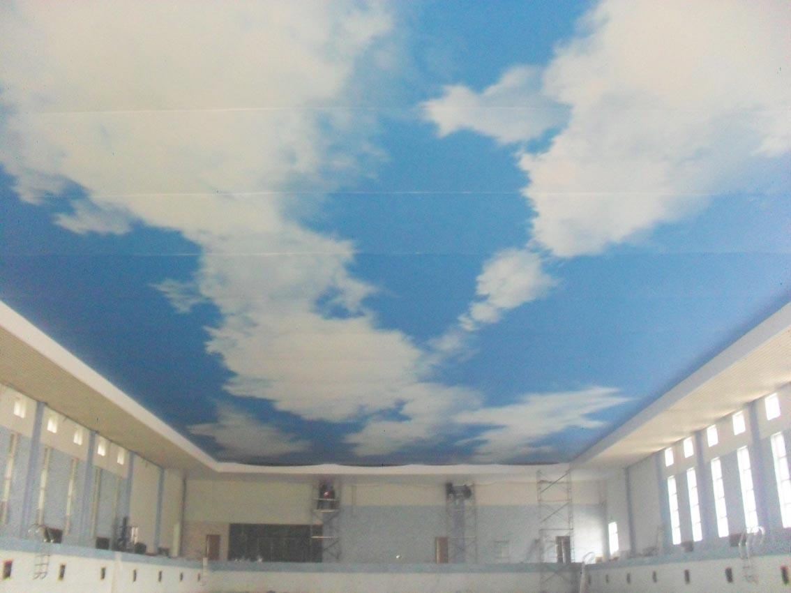 北京——蓝天白云喷绘软膜