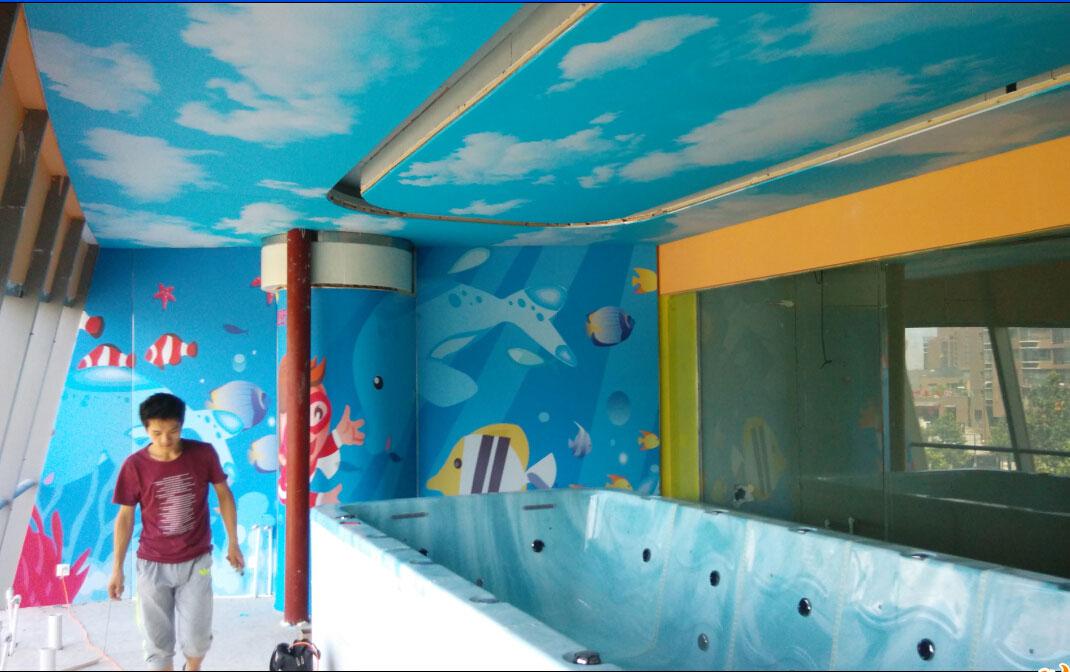 北京神州婴儿游泳馆彩绘软