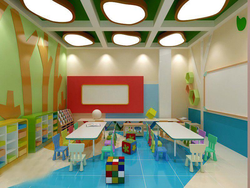 幼儿园室内装修设计方案,效果图图片